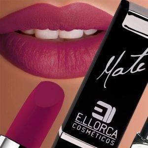 maquillaje de labios mate