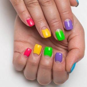 manicura de colores